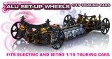 HUDY Alu Set-Up Wheel For 1/10 Rubber Tires (4) - 109370_
