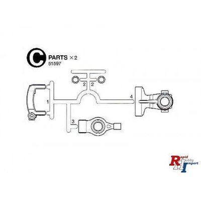 TAMIYA M-07 C-Parts (Uprights) - 51597