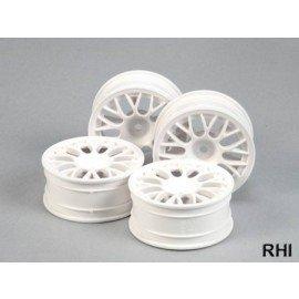 TAMIYA Mesh Spoke Wheel white 24mm(4) Offset+2 - 53468