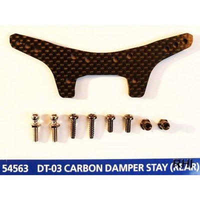 TAMIYA DT-03 Carbon Damper Stay (Rear) - 54563