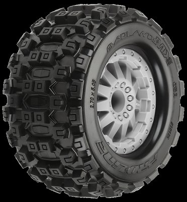 Proline Badlands MX28 2.8 (Traxxas Style Bead) All Terrain Tires Mounted on F-11 Stone - 10125-25