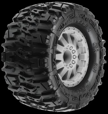 Proline Trencher 2.8 (Traxxas Style Bead) All Terrain Tires Mounted on F-11 Stone Gray W - 1170-25