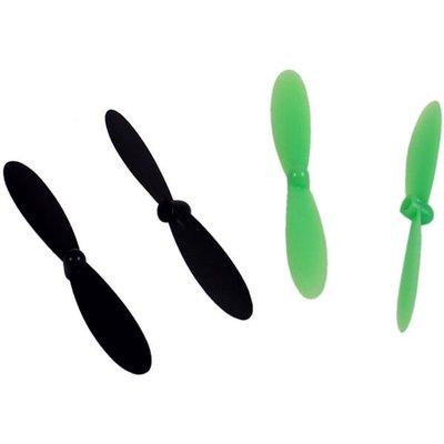 Yellow-RC Micro Drone Rotor Blade Set (2xA, 2xB) black/green, YEL9021 - 9021