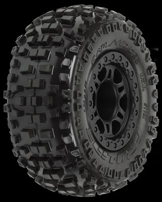 Proline Badlands SC 2.2/3.0 M2 (Medium) Tires Mounted on Split Six B, PR1182-21 - 1182-21