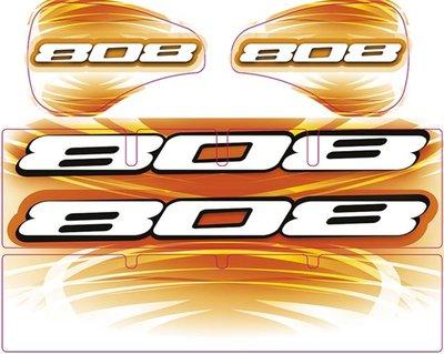 Xray Xb808 Wing Sticker Die-cut White, X397356 - 397356