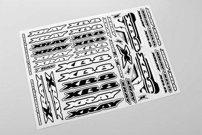 Xray Xb8 Sticker For Body - White, X397359 - 397359