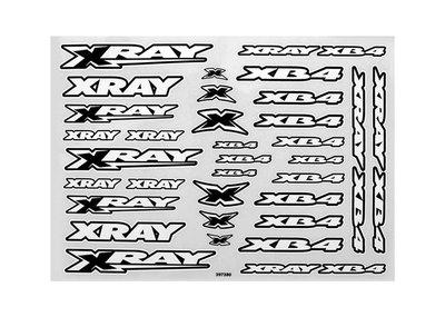 Xray Xb4 Sticker For Body - White, X397380 - 397380