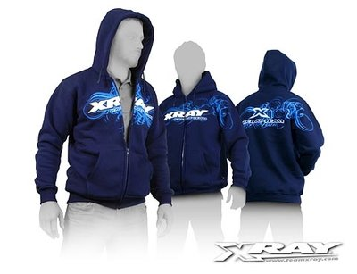 Xray Sweater Hooded With Zipper - Blue (xxl), X395600xxl - 395600XXL