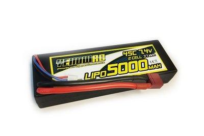 YellowRC Lipo 5000mah 7,4v 2s45c Hardcase Deans Plug, Yel2652 - 2652
