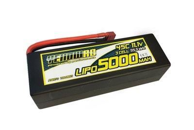 YellowRC Lipo 5000mah 11,1v 3s45c Hardcase Deans Plug, Yel2653 - 2653
