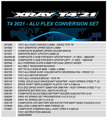 T4 2021 - ALU FLEX CONVERSION SET - 300947