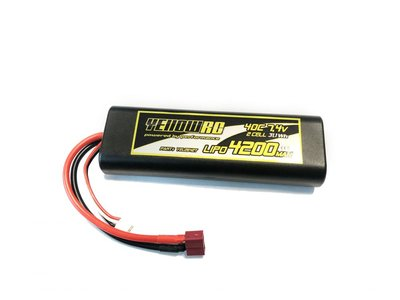 YellowRC Lipo 40c 4200mah 7.4 Round Hardcasem Deans, Yel2642t - 2642T