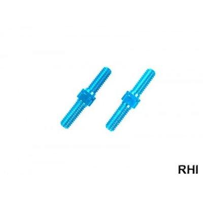 54247, M3x18mm Alu Tunrbuckle Shaft blue anodited