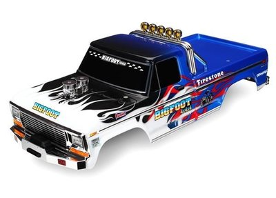 Traxxas Body, Bigfoot® Flame, Officially Licensereplica (painted, Decals Applied), Trx3653 - 3653
