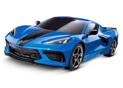 Traxxas Corvette Chevrolet Stingray 1/10 Scale AWD Supercar 4-Tec 3.0, Blue
