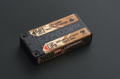 Sunpadow Lipo Battery 3800mAh 7,4V 2S 130C/65C Shorty - S638066