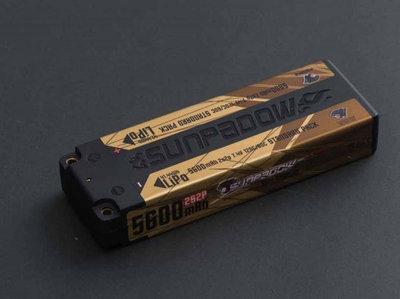 Sunpadow Lipo Battery 5600mAh 7,4V 2S 120C/60C - 5656040
