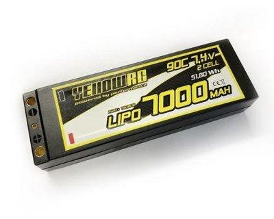 Yellow RC LiPo 7000mAh 7,4V 2S 90C w/5mmbullet - YEL2670