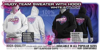 HUDY Sweater Hooded - White (L) - 285500L