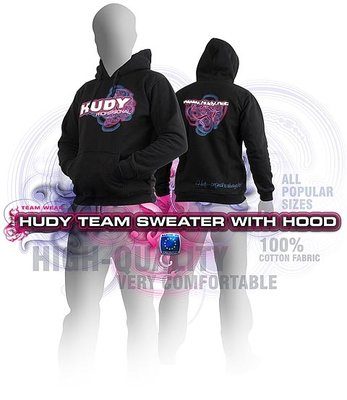 HUDY Sweater Hooded - Black (L) - 285501L