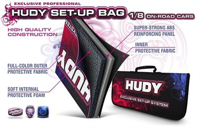 HUDY Set-Up Bag For 1/8 On-Road Cars - Exclusive Edition - 199230