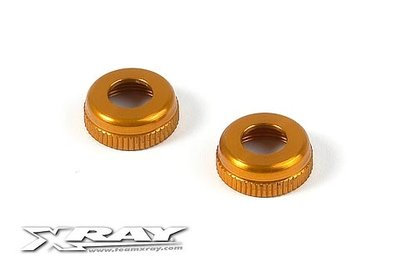 XRAY ALU CAP FOR XRAY SHOCK BODY #308322 - ORANGE - 308327-O