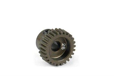 XRAY Narrow Pinion Gear Alu Hard Coated 26T : 64 - 305976