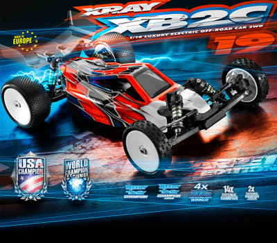 XRAY XB2 - 2019 Specs - 2WD 1/10 Electric Off-Road Carpet Edition - 320006