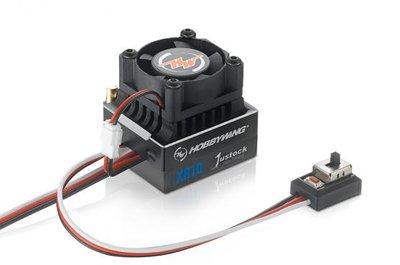 Hobbywing XeRun XR10 Justock 1/10 ESC, 60A, Black - 30112000