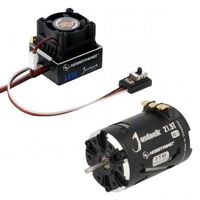 Hobbywing Combo XR10 JS6 Black G2.1, 1900kv, 21.5T - 38020242