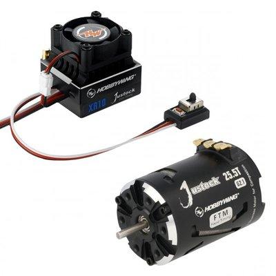 Hobbywing Combo XR10 JS7 Black G2.1, 1500kv, 25.5T - 38020243