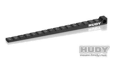 HUDY Ride Height Gauge Stepped 1/10 & 1/12 Pan Cars - 107718