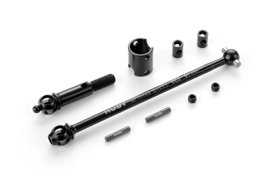 XRAY ECS FRONT DRIVE SHAFT 81MM WITH 2.5MM PIN - HUDY SPRING STEEL - SET - 365201