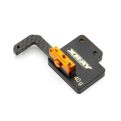 XRAY ALU FULLY ADJ. BATTERY HOLDER + WEIGHT FOR SHORTY BATTERIES - 306195