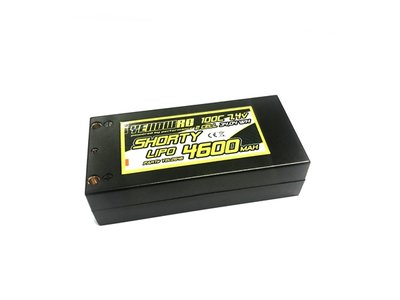 Yellow RC LiPo 4600mAh 7,4V 2S 100C Shorty Hardcase - YEL2646
