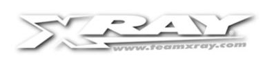 XRAY X12'20 ALU POD LINK GRAPHITE PLATE HOLDER - 371184