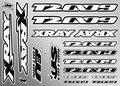 Xray T2'009 Sticker For Body - White, X397324 - 397324