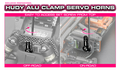 HUDY ALU CLAMP SERVO HORN - FUTABA - 2-HOLE - 25T - 293406