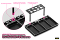 HUDY ALU TRAY FOR ON-ROAD DIFF & SHOCKS - 109800